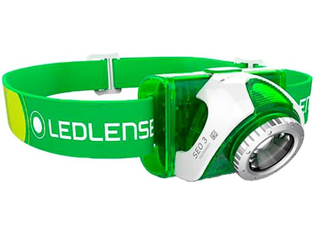 Led Lenser SEO 3 Otsalamppu, green